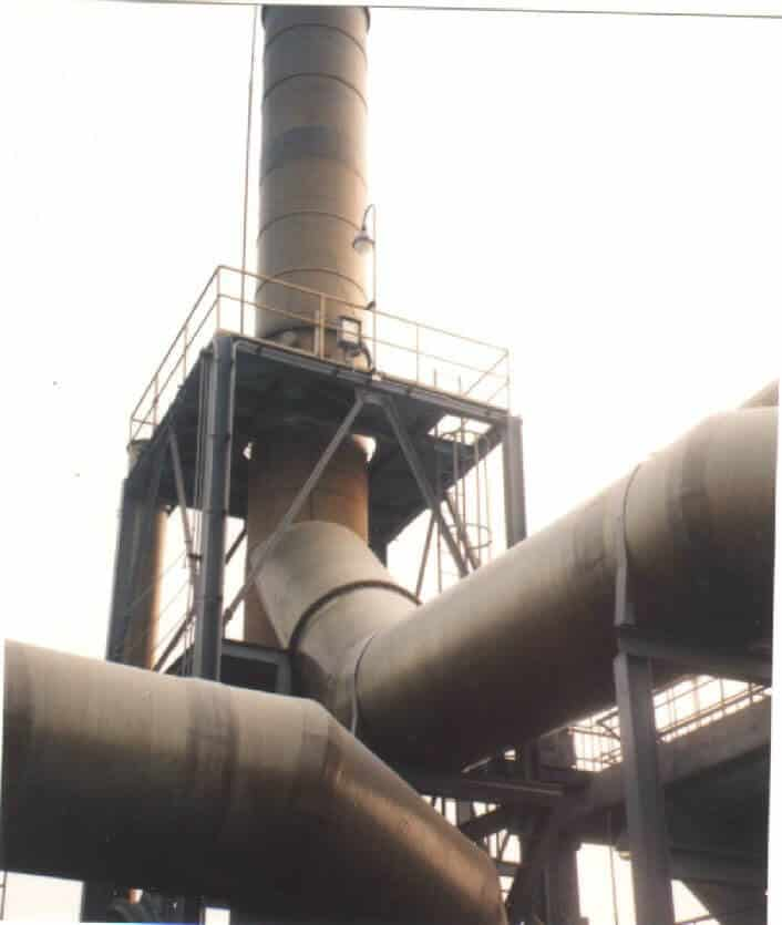 Exhaust Ducting System Sulfur chemical and Ammonia gas up to 70°C - SW907